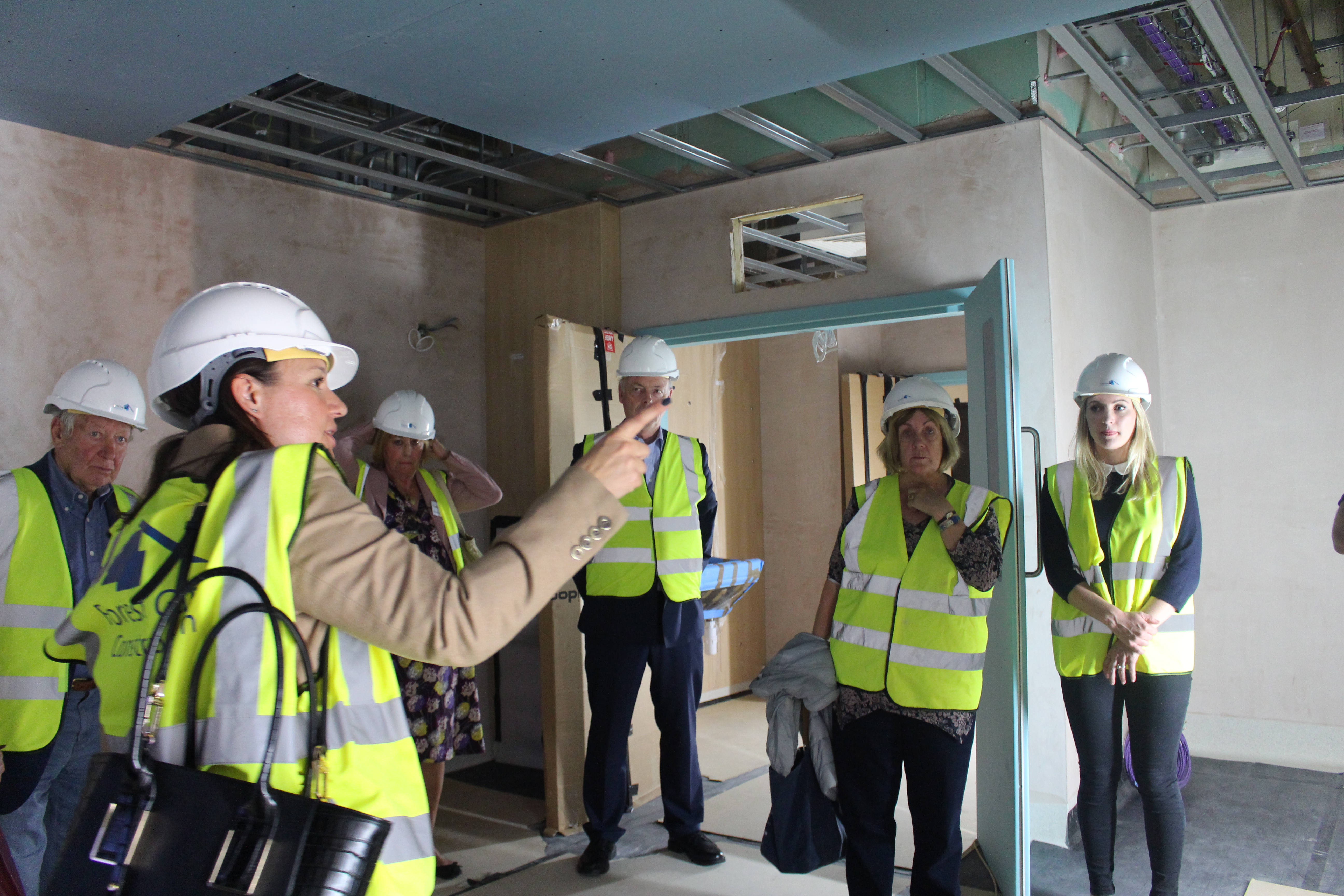 Donors are given a sneak peek of the intensive care unit rooms
