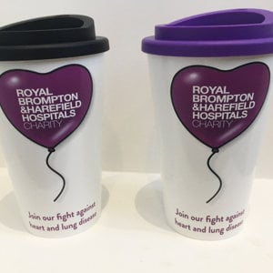 Reusable Coffee Cup (purple lid)