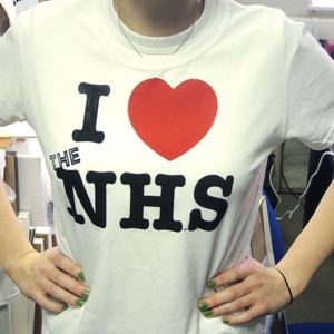 'I Love the NHS' t-shirt (Men's round neck, M)