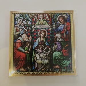 Holy window Christmas cards