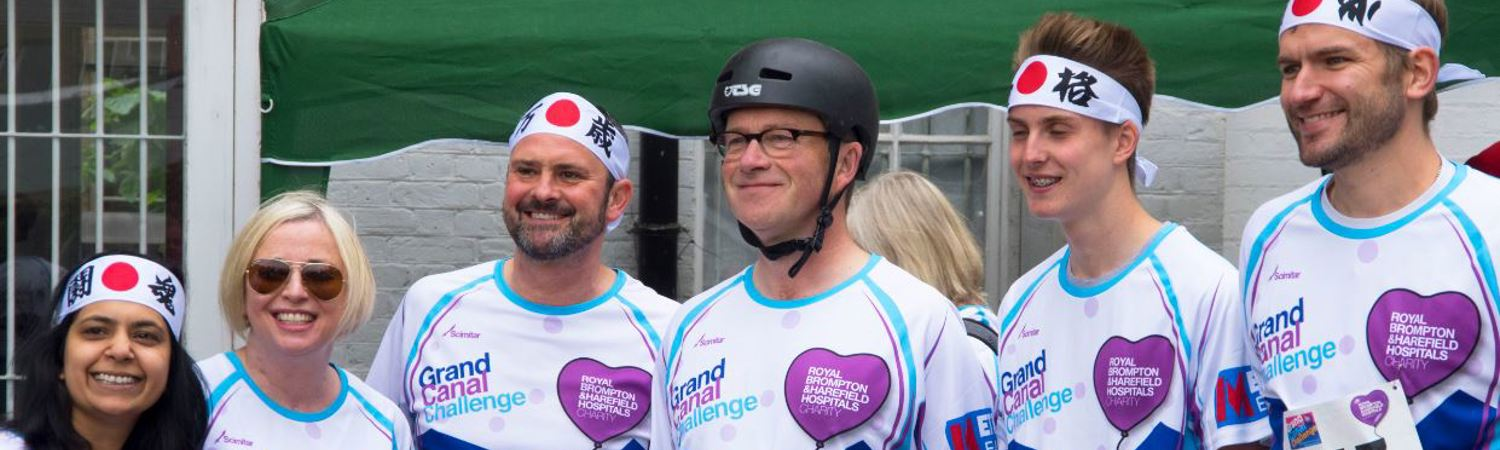 Harry Enfield and 'chums' help raise £41,500 at our Grand Canal Challenge